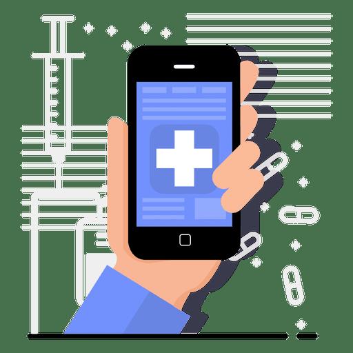 Diseño de la aplicación de salud Transparent PNG