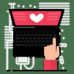 Diseño de la aplicación del corazón