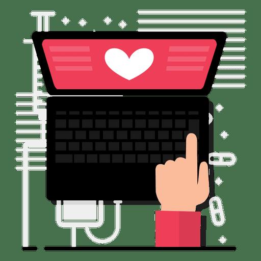 Diseño de la aplicación del corazón Transparent PNG