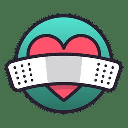 Parche de icono de corazón