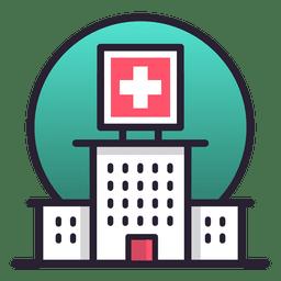 Krankenhausgebäude Symbol
