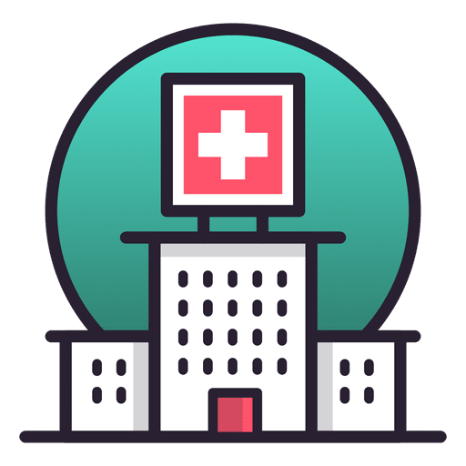 Hospital building icon - Transparent PNG & SVG vector