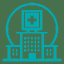 Icono de trazo de hospital