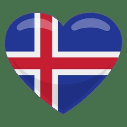 Bandera del corazon de islandia