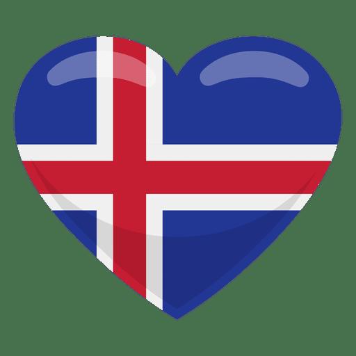 Iceland heart flag Transparent PNG