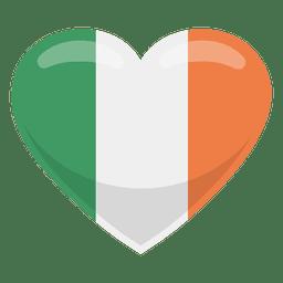 Bandeira do coração de India