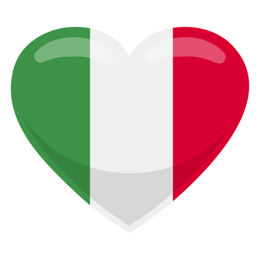 Bandeira do coração de Itália Transparent PNG
