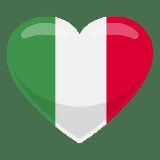 Bandera del corazon de italia Transparent PNG