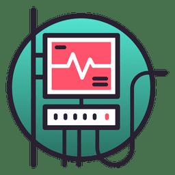 Ícone de monitor de sistema de suporte de vida