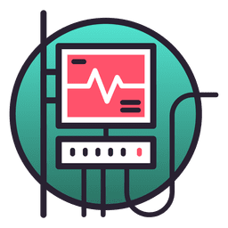 Icono de monitor del sistema de soporte vital