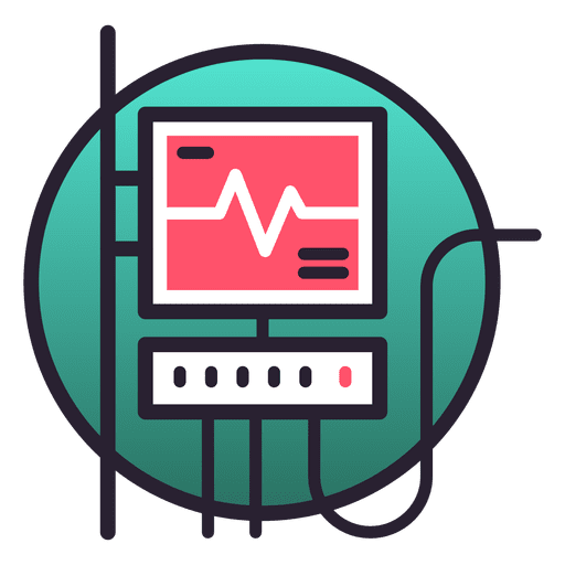 Life support system monitor icon Transparent PNG