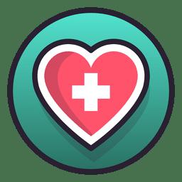 Cruz de corazon medico