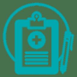 Icono de registro médico