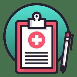 Notas da tabela de registro médico