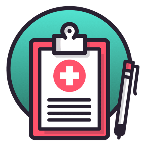 Medical record table notes Transparent PNG