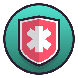 Medical shield symbol