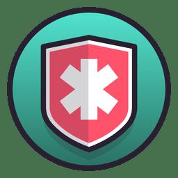 Símbolo de escudo médico