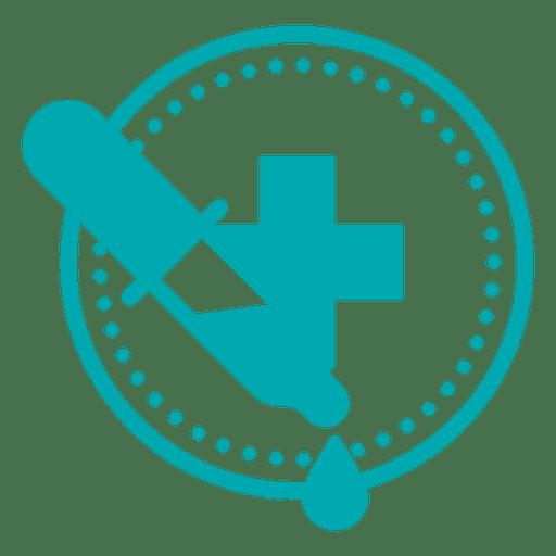 Conta-gotas símbolo médico cruz Transparent PNG