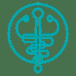 Sinal de símbolo de medicina
