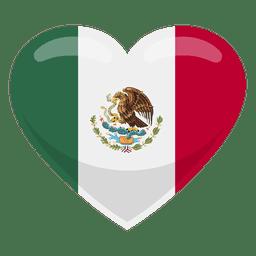 Bandera del corazón de México