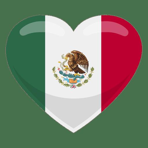 Bandeira do coração do México Transparent PNG