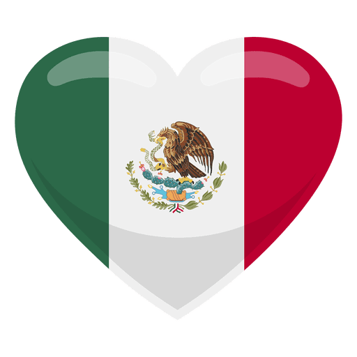 Mexico heart flag Transparent PNG