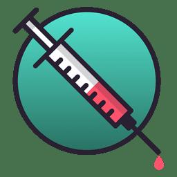 Icono de inyección de aguja