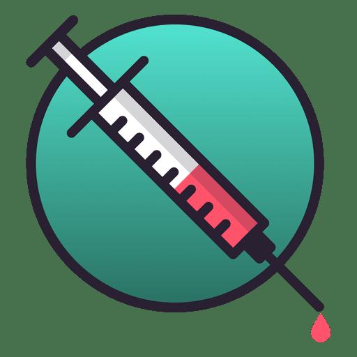 Needle injection icon