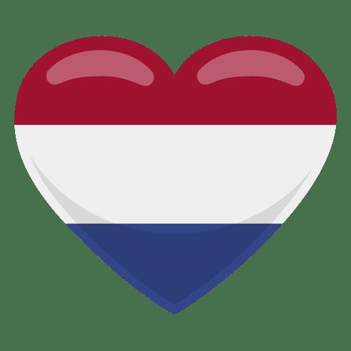Netherlands heart flag Transparent PNG