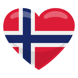 Bandeira do coração da Noruega