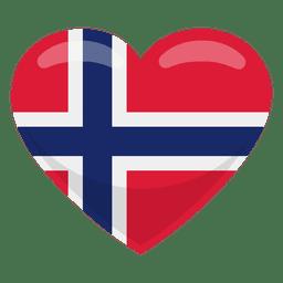 Bandera del corazon de noruega