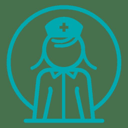 Icono de perfil de enfermera