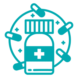 Pillen-Flaschen-Symbol
