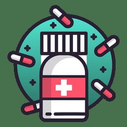 Icono de píldoras remedio