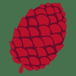 Ilustração de cone de pinho