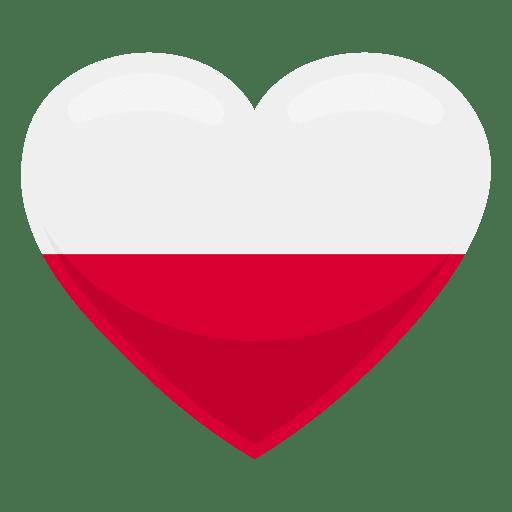 Bandera del corazon de polonia Transparent PNG