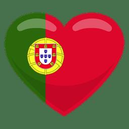 Bandera del corazon de portugal
