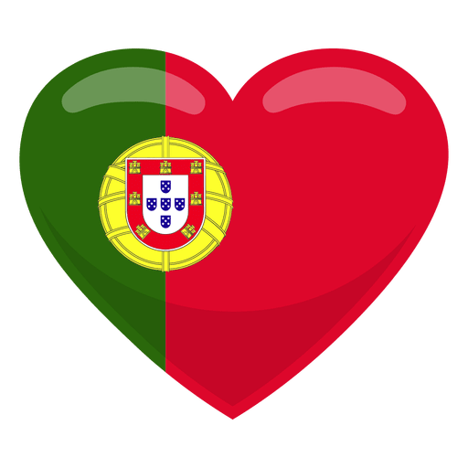 Portugal heart flag Transparent PNG