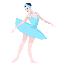 Russia ballet dancer illustration