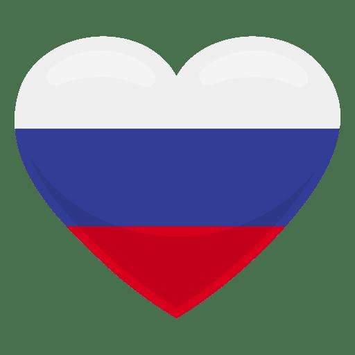 Bandeira do coração de Rússia Transparent PNG