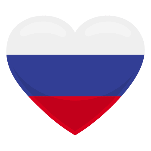 Russia heart flag Transparent PNG