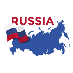 Ilustração do mapa da Rússia