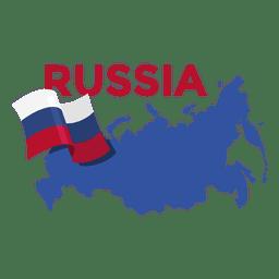 Ilustración de mapa de Rusia