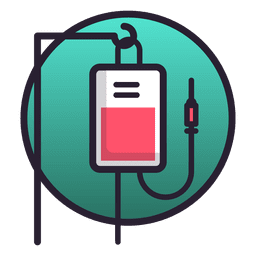 Serum bag icon
