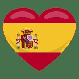 Bandeira do coração da Espanha
