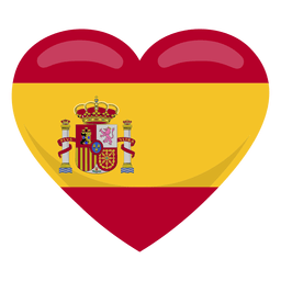 Bandeira do coração de Espanha