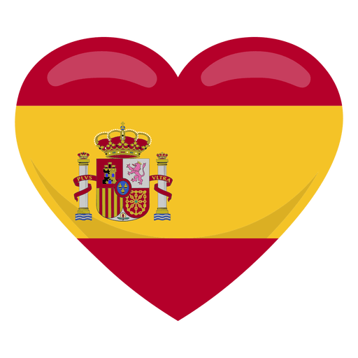 Spain heart flag Transparent PNG