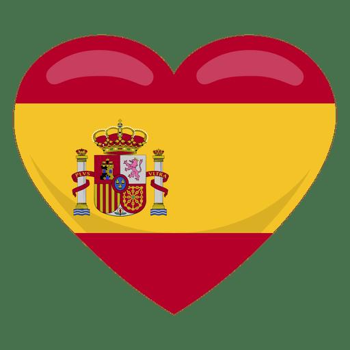 Spain heart flag