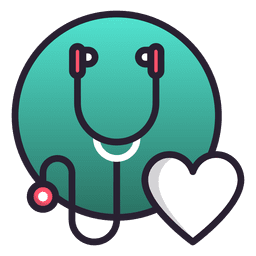 Stethoscope color icon