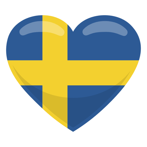Sweden heart flag Transparent PNG